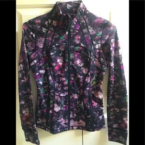 RARE!! 🍒LULULEMON sz 6 DEFINE Jacket FLORAL ILLUSION Pink/Coral/Black *LUXTREME